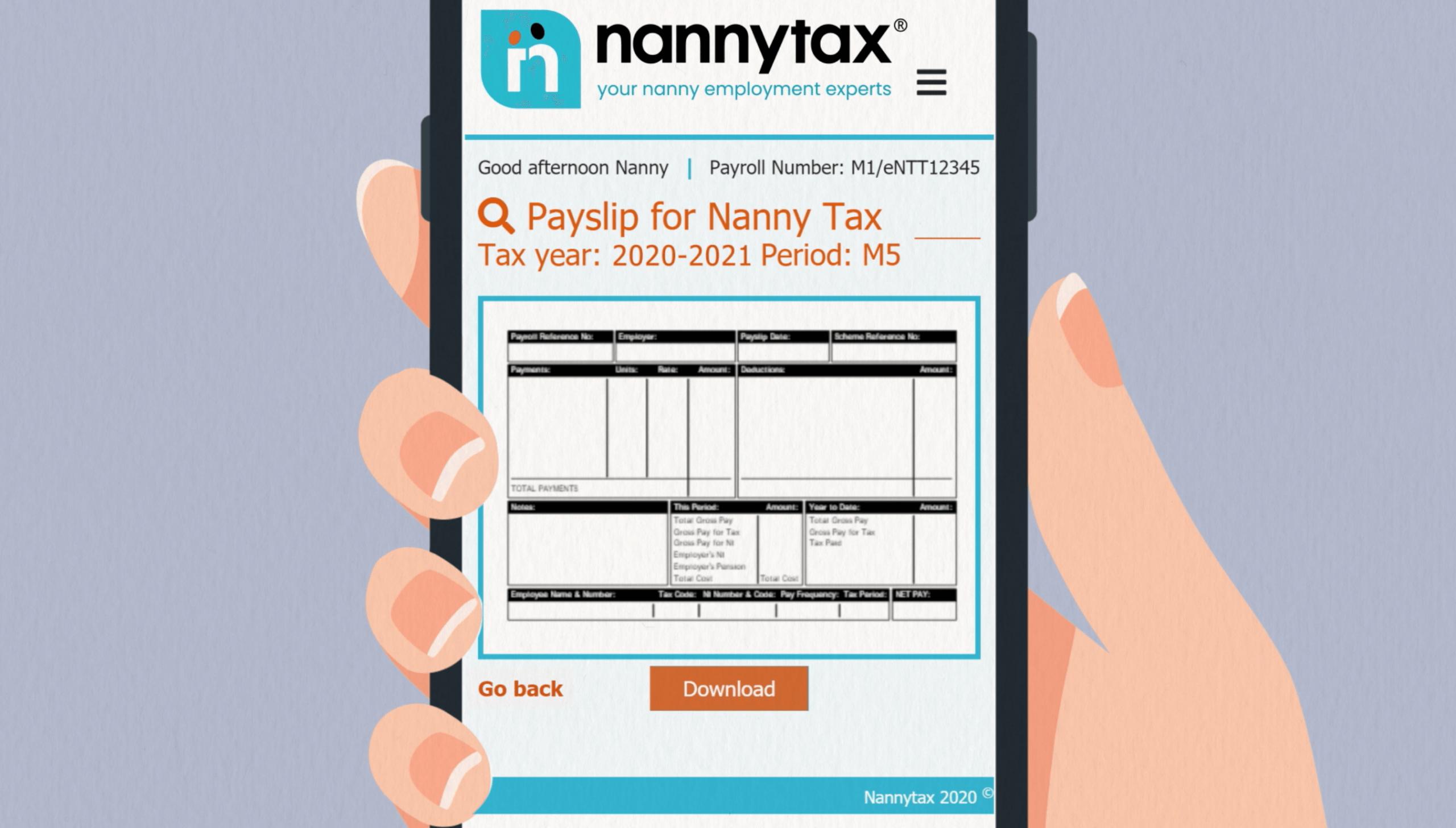 Nanny Members Area | Nannytax